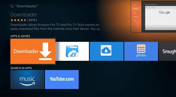 Kenya sesebelisoa sa Downloader ho Amazon Fire TV Stick