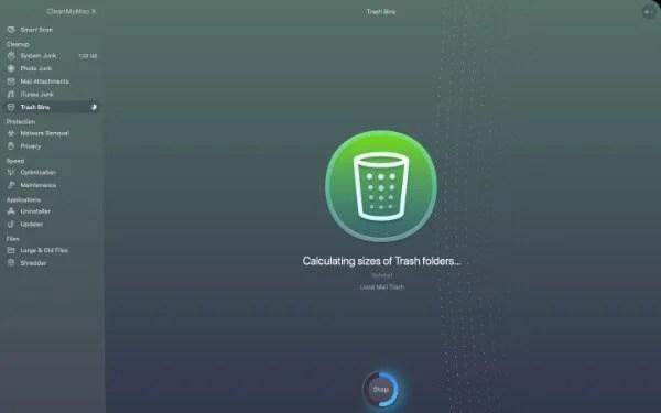 Trash Bin Cleaner in CleanMyMac X