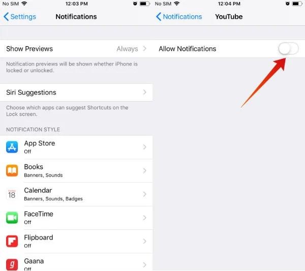 iphone battery save notifications