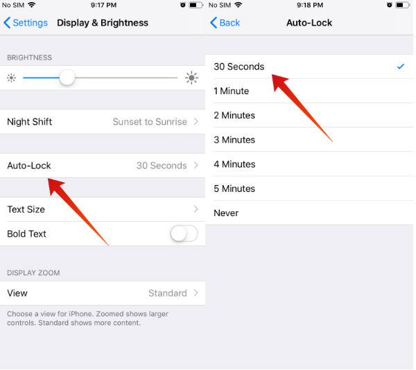iphone save battery autolock