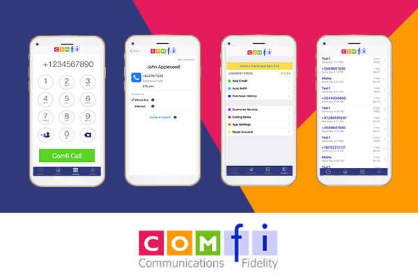 Comfi App smartphone interface