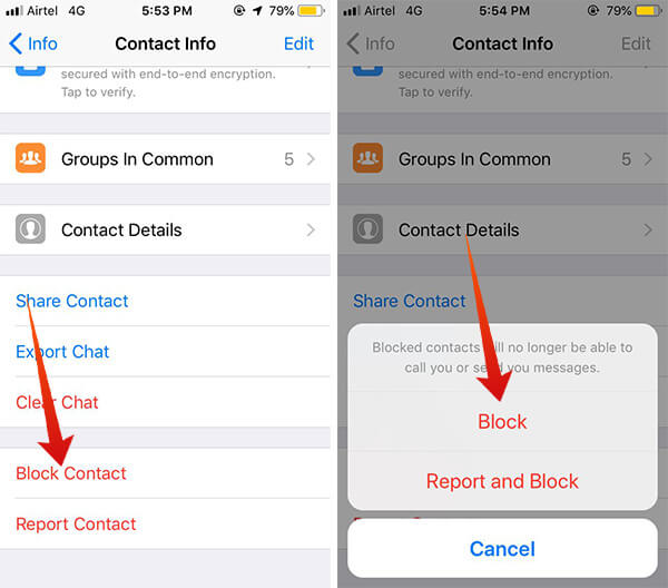 Guide to Block a contact on WhatsApp using iPhone