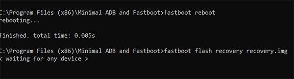 Flash TWRP Recovery using ADB