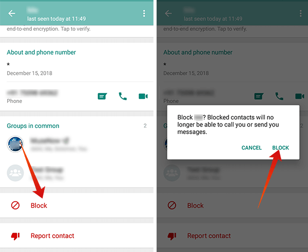 How to Block a person in WhatsApp