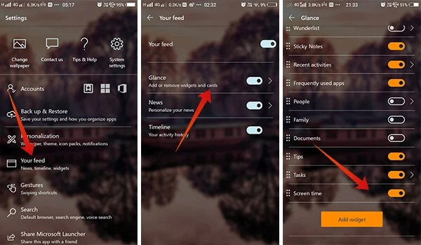 Steps Screenshot on How to Keep Track of Your Smartphone Usage With Microsoft Launcher