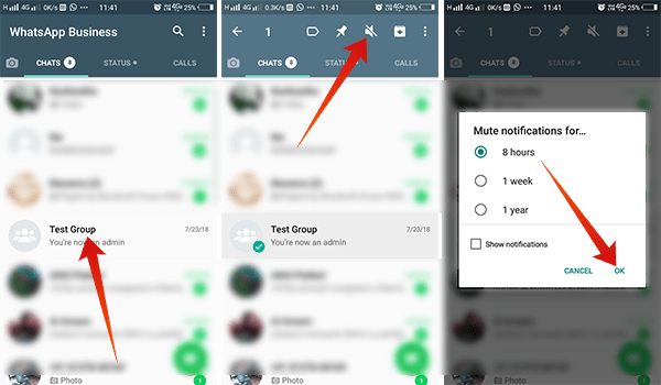 Steps to Mute a WhatsApp Group Notifications on Android
