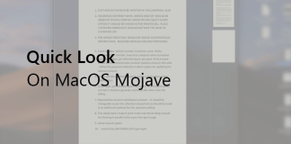 Quick Look on MacOS Mojave -F