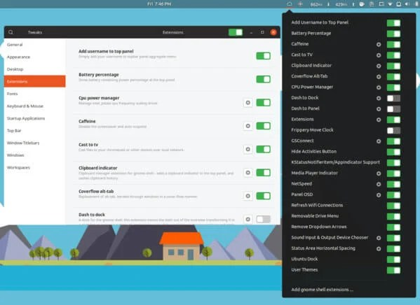 Extensions GNOME Extension