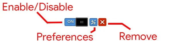 GNOME shell extensions toggle