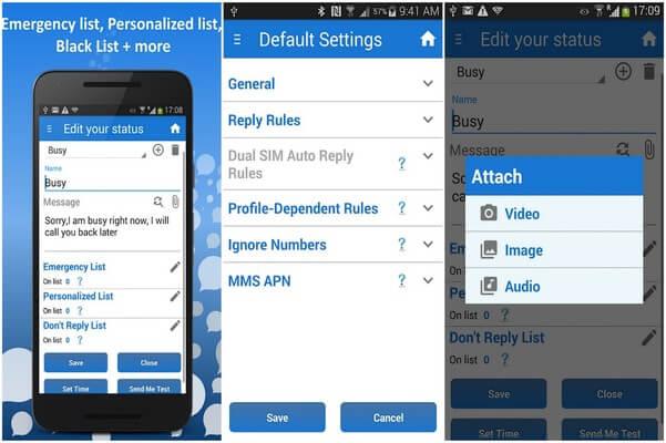 SMS Auto Reply Text Message/Calls, Autoresponder