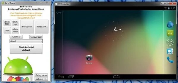 jar of beans android emulator