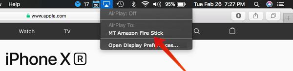 AirPlay Mac to Amazon FireStick