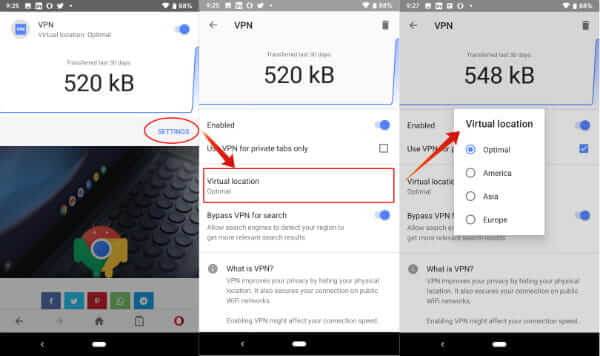 How to Enable Free VPN on Opera Browser for Android | Mashtips