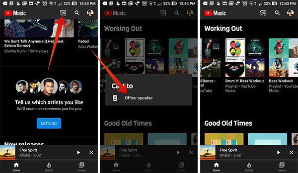 Cast Music from YouTube Music to Google Home