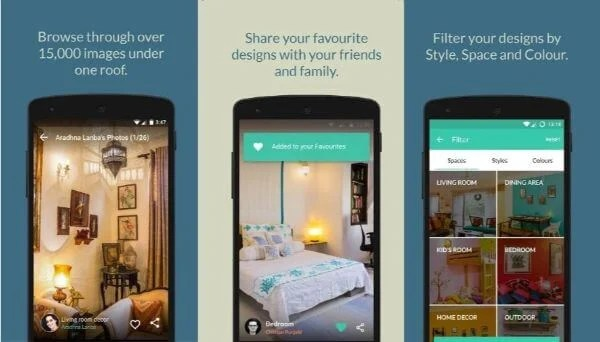 Browse through different creative ideas with Houzify app