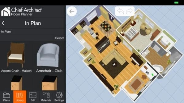 3D visualizing in Room Planner app