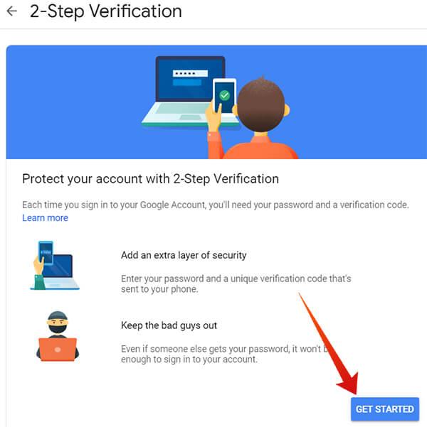 Visit Google 2SV Website