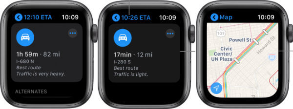 Apple Map in Apple Watch