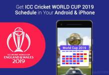 Get ICC Cricket WORLD CUP Schedule Android iPhone