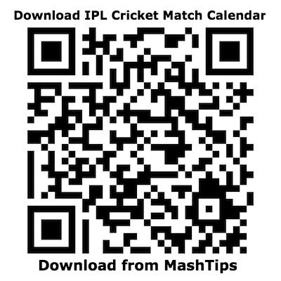 IPL 2019 Match Calendar MashTips