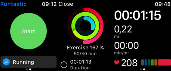 Workout tracker for Apple watch