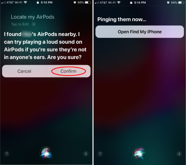 Find Lost AirPods using Siri