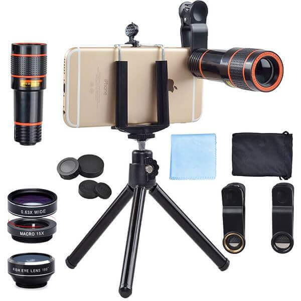 Apexel 4 in 1 iPhone Lens Kit