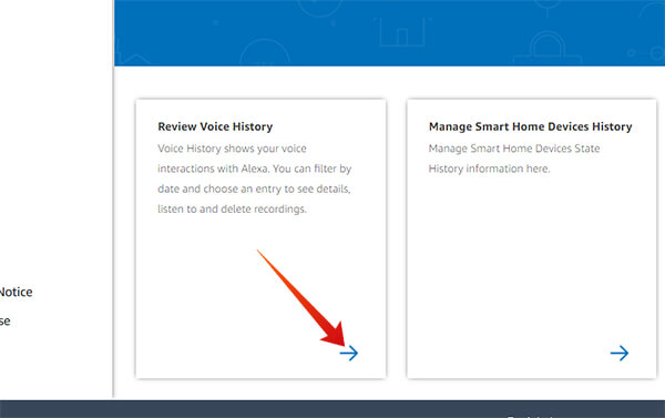 Review Voice History on Alexa