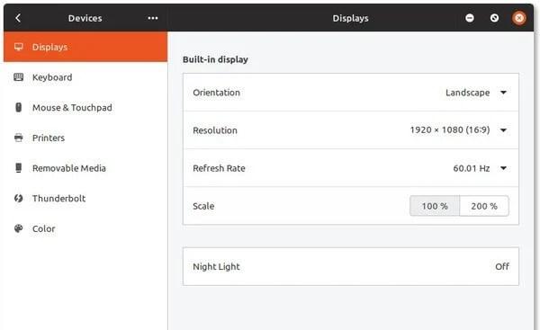 Fractional Scaling in Ubuntu disabled