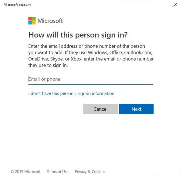 Add Phone Number linked to Microsoft Account