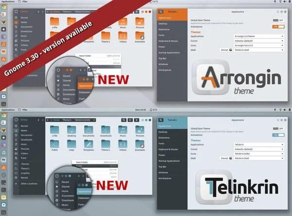 10 Top GNOME Themes for Ubuntu Linux | Mashtips