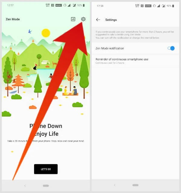 ZenMode Settings On OnePlus 7 Pro