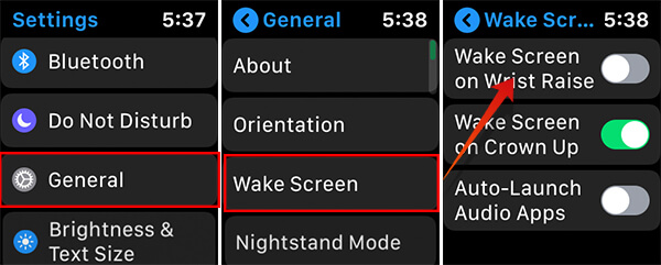 Disable Wake on Wrist Raise for Apple Watch