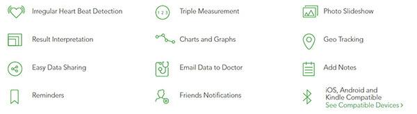 QardioArm Blood Pressure Monitor Features