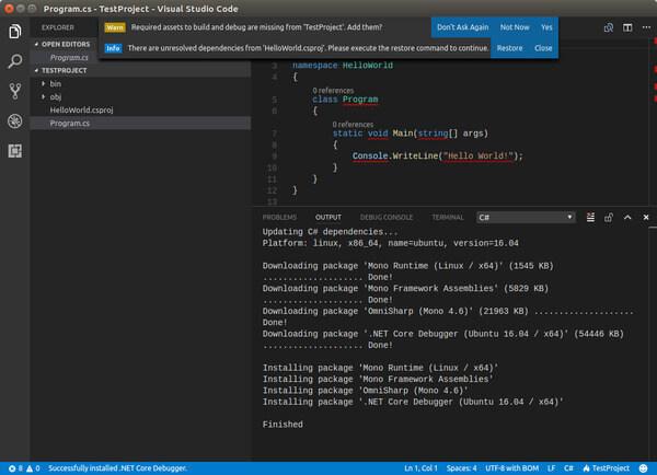 Visual Studio Code Linux