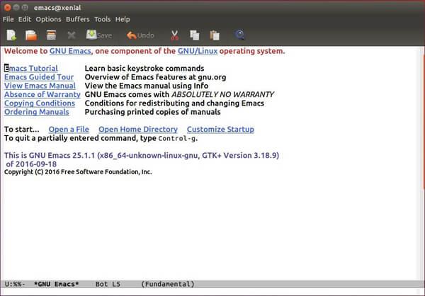 GNU Emacs Linux