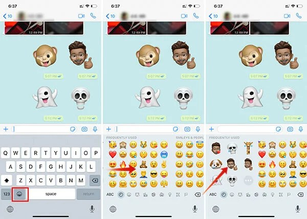How to send Memoji and ANimoji as WhatsApp Sticker on iPhone using iOS 13