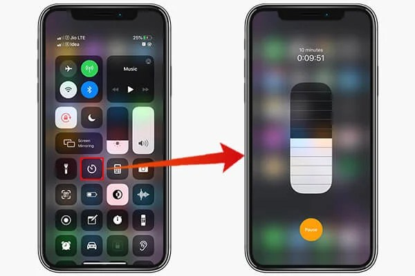 Set Timer from Control Center