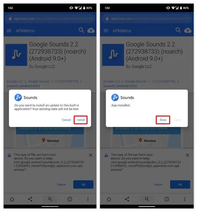 Google Sounds 2.2 APK Installation