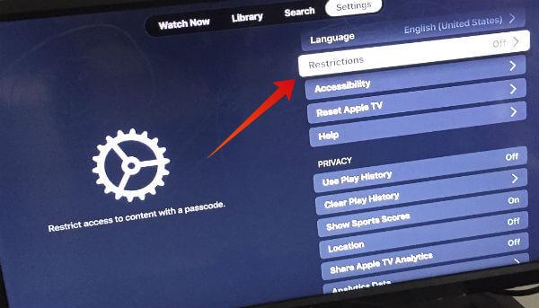 Apple TV Firestick privacy settings