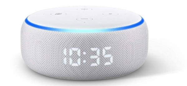 All-new Echo Dot (3rd Gen) with clock best tech gifts
