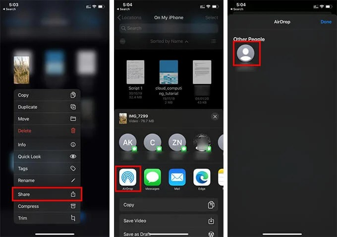 Use AirDrop to Share Photos Between iPhone and Mac