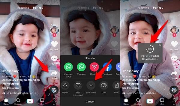 tiktok video download option in iOS