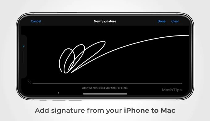 Add Signature on PDF or Images on Mac Using iPone or iPad