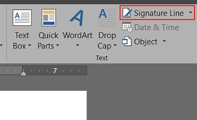 Add Signature to A Document in Word