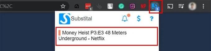 Choose NetFlix Substital Chrome Extension