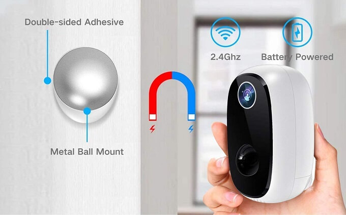 Meco Wireless security cam installation