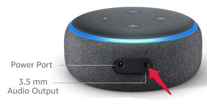 Amazon Echo Dot Audio Port