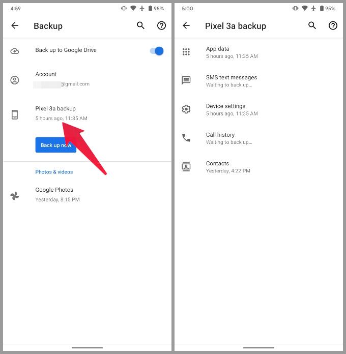 Google Pixel 3a System backup