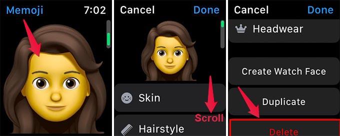 Delete Memoji on Apple Watch